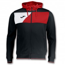 CREW II HOODED FZ POLY JACKET (BLACK-RED-WHITE)